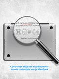 MacBook Pro retina touchbar 13 inch case - marble wit_