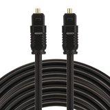 ETK Digital Toslink Optical kabel 8 meter / audio male to male / Optische kabel PVC series - zwart_