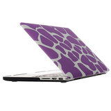 MacBook Pro Retina 15 inch cover - Dot pattern paars_