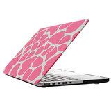 MacBook Pro 15 inch cover - Dot pattern Roze_
