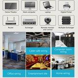 3m CAT6 Ultra dunne Flat Ethernet netwerk LAN kabel (1000Mbps) - Zwart_