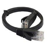 0.5m CAT6 Ultra dunne Flat Ethernet netwerk LAN kabel (1000Mbps) - Zwart_