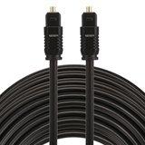 ETK Digital Toslink Optical kabel 20 meter / audio male to male / Optische kabel PVC series - zwart_