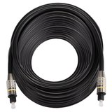 ETK Digital Optical kabel 25 meter / toslink audio male to male / Optische kabel nickel series - zwart_