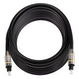 ETK Digital Optical kabel 8 meter / toslink audio male to male / Optische kabel nickel series - zwart_