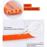 1m CAT6 Ultra dunne Flat Ethernet netwerk LAN kabel (1000Mbps) - Oranje_