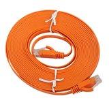 15m CAT6 Ultra dunne Flat Ethernet netwerk LAN kabel (1000Mbps) - Oranje_