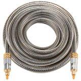 ETK Digital Optical kabel 3 meter / toslink audio male to male / Optische kabel metaal - Grijs_