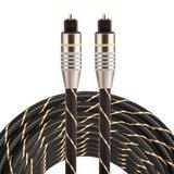 ETK Digital Optical kabel 5 meter / toslink audio male to male / Optische kabel nylon series - zwart_