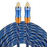 ETK Digital Toslink Optical kabel 25 meter / audio male to male / Optische kabel BLUE series - Blauw_
