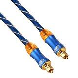 ETK Digital Toslink Optical kabel 20 meter / audio male to male / Optische kabel BLUE series - Blauw_