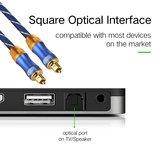ETK Digital Toslink Optical kabel 15 meter / audio male to male / Optische kabel BLUE series - Blauw_