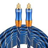 ETK Digital Toslink Optical kabel 8 meter / audio male to male / Optische kabel BLUE series - Blauw_