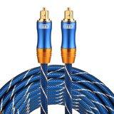 ETK Digital Toslink Optical kabel 5 meter / audio male to male / Optische kabel BLUE series - Blauw_