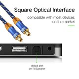 ETK Digital Toslink Optical kabel 1 meter / audio male to male / Optische kabel BLUE series - Blauw_
