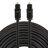 ETK Digital Toslink Optical kabel 25 meter / audio male to male / Optische kabel PVC series - zwart_