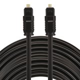 ETK Digital Toslink Optical kabel 15 meter / audio male to male / Optische kabel PVC series - zwart_