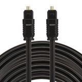 ETK Digital Toslink Optical kabel 10 meter / audio male to male / Optische kabel PVC series - zwart_