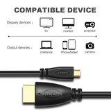 HDMI kabel 1.5 meter - HDMI Male naar Micro HDMI kabel geschikt voor GoPro, camera's etc - HDMI 1.4 versie - High Speed 1080P - Black edition_