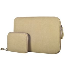 13.3 inch denim sleeve - Beige