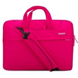 POFOKO 15.4 inch laptoptas met schouderband - Magenta