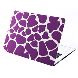 MacBook Air 13 inch cover - Dot pattern Paars