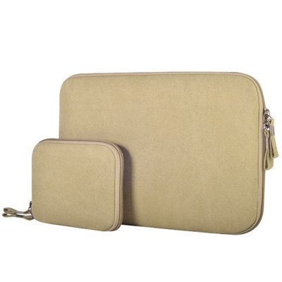 11.6 inch denim sleeve - Beige