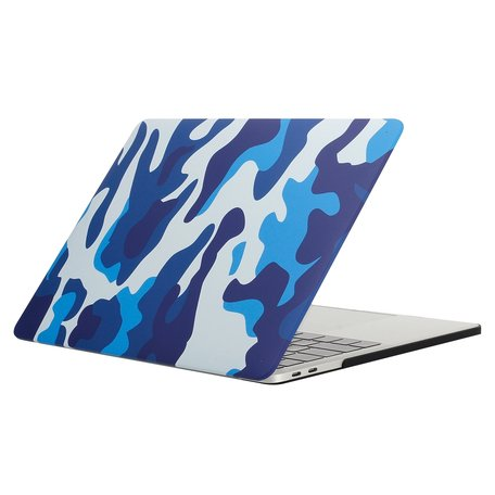 MacBook Pro retina touchbar 13 inch case - camo blauw