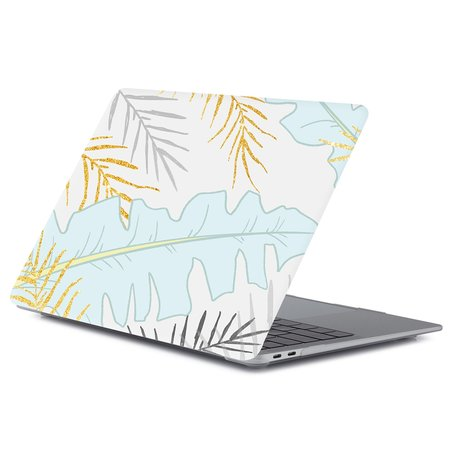 MacBook Air 13 inch case 2018 - Pastel leaf (A1932, touch id versie)