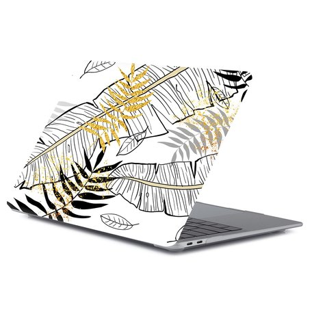 MacBook Air 13 inch case 2018 - Leaf abstract (A1932, touch id versie)