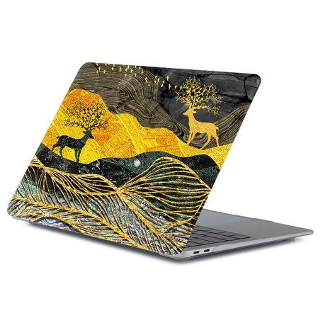 MacBook Air 13 inch case 2018 - Dieren abstract (A1932, touch id versie)