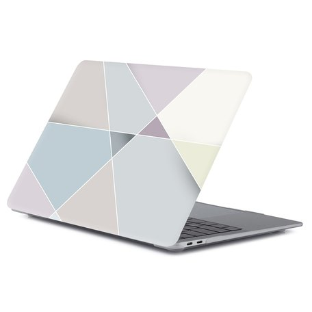 MacBook Air 13 inch case 2018 - Pastel abstract (A1932, touch id versie)