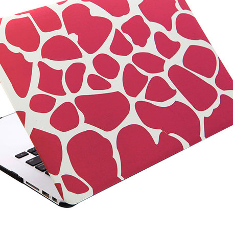 MacBook Air 11 inch cover - Dot pattern Roze