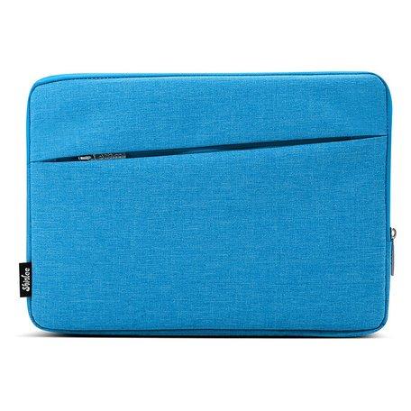 13 inch sleeve met extra vak - Blauw
