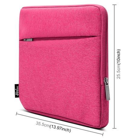 13 inch sleeve met extra vak - Roze