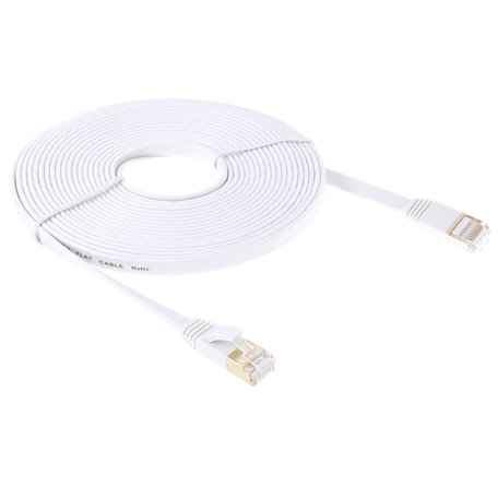 15m CAT7 Ethernet netwerk LAN kabel Gold plated (10000 Mbit/s) - Wit