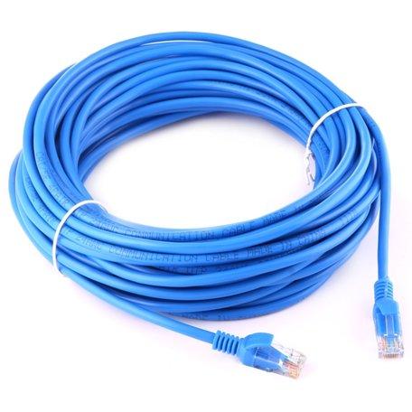 15m CAT5E Ethernet netwerk LAN kabel (10000 Mbit/s) - Blauw