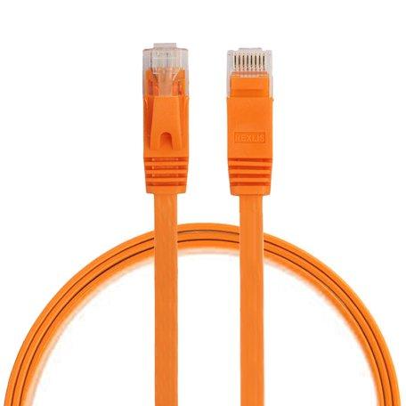 0.5m CAT6 Ultra dunne Flat Ethernet netwerk LAN kabel (1000Mbps) - Oranje