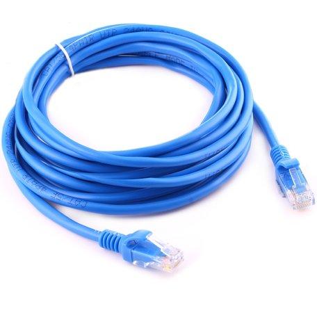 10m CAT5E Ethernet netwerk LAN kabel (10000 Mbit/s) - Blauw