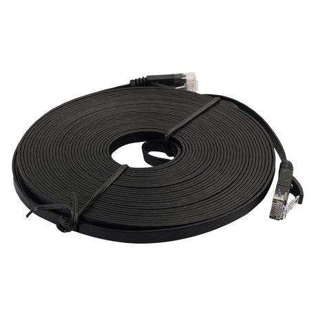 7.6m CAT6 Ultra dunne Flat Ethernet netwerk LAN kabel (1000Mbps) - Zwart
