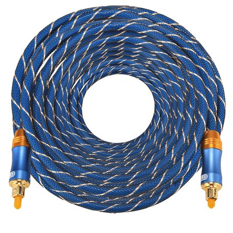 ETK Digital Toslink Optical kabel 25 meter / audio male to male / Optische kabel BLUE series - Blauw