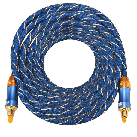 ETK Digital Toslink Optical kabel 15 meter / audio male to male / Optische kabel BLUE series - Blauw