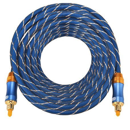 ETK Digital Toslink Optical kabel 10 meter / audio male to male / Optische kabel BLUE series - Blauw