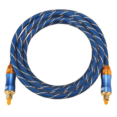ETK Digital Toslink Optical kabel 2 meter / audio male to male / Optische kabel BLUE series - Blauw