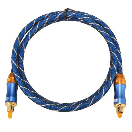 ETK Digital Toslink Optical kabel 1 meter / audio male to male / Optische kabel BLUE series - Blauw