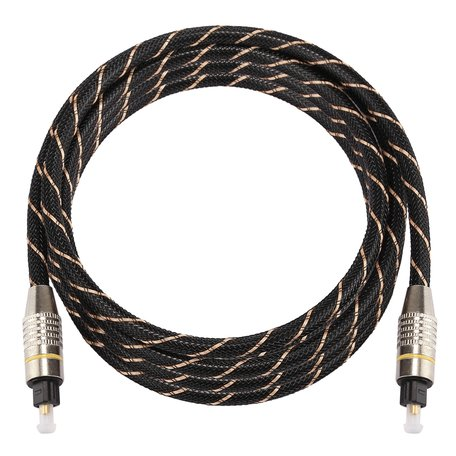 ETK Digital Optical kabel 3 meter / toslink audio male to male / Optische kabel nylon series - zwart