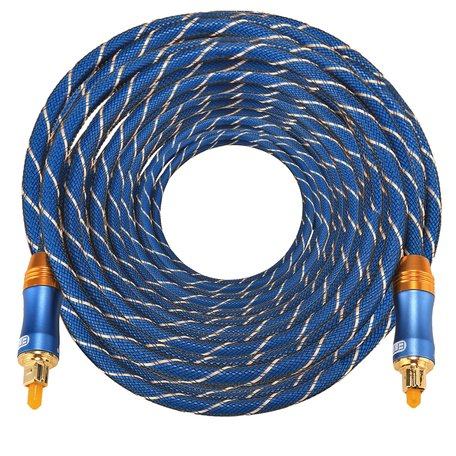 ETK Digital Toslink Optical kabel 20 meter / audio male to male / Optische kabel BLUE series - Blauw