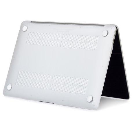 MacBook Air 13 inch case 2018 - Marble witgoud (A1932, touch id versie)