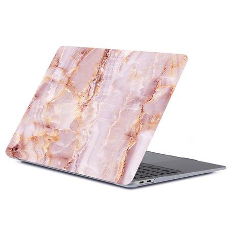 MacBook Air 13 inch case 2018 - Marble roze (A1932, touch id versie)