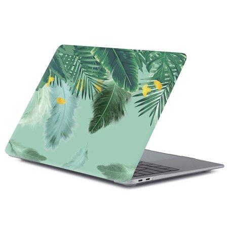 MacBook Air 13 inch case 2018 - Green nature (A1932, touch id versie)
